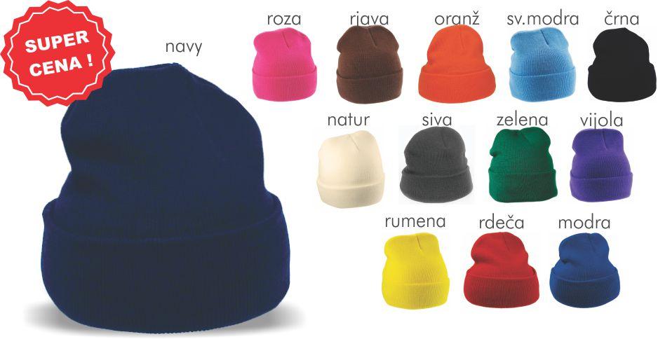 pletena kvalitetna kapa, pestrih barv