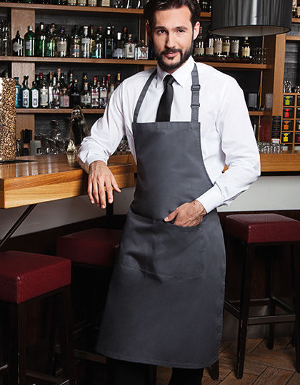 Bib Apron Basic with Pocket and Buckle