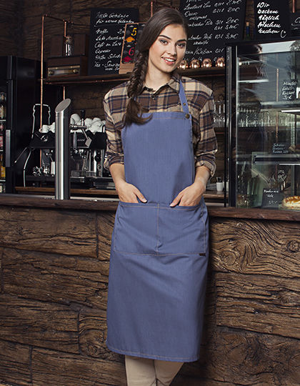 Bib Apron Jeans-Style with pocket