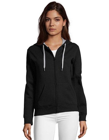Contrast Hooded Zip Jacket Soul Women