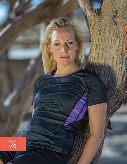 Fitness Women`s Tech Panel Marl T-Shirt