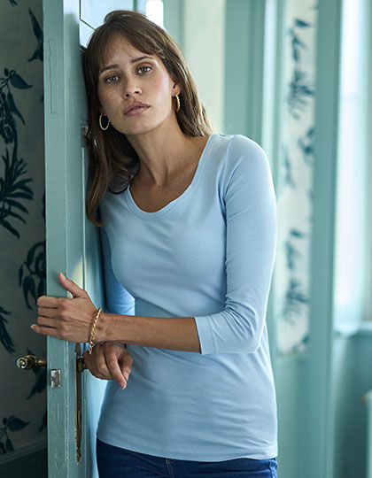 Womens Stretch 3/4 Sleeve Tee