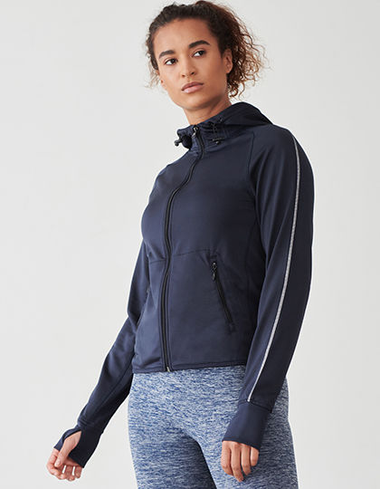 Ladies` Hoodie with Reflective Tape