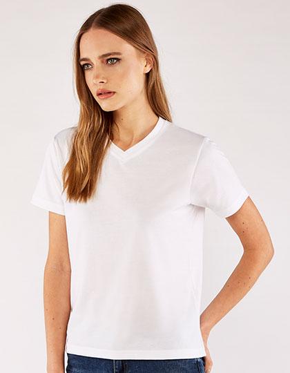 Women`s Subli Plus® V neck T-Shirt