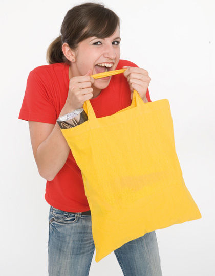 Cotton bag, short handles
