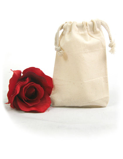 Bag with two cords to pull, small, 10 x 14 cm