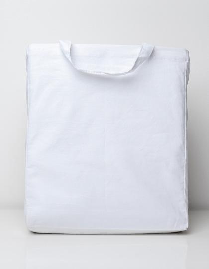 Cotton bag with sidefold