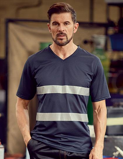 Hi Vis Top Cool Super Light V-Neck T-Shirt